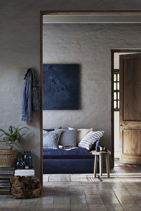 Blau & Grau - zwei wirklich starke und kräftige Farben, die sich im Mix a...