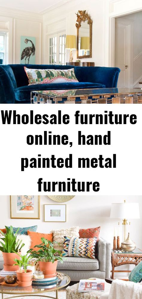 Wholesale furniture online, hand painted metal furniture manufacturers