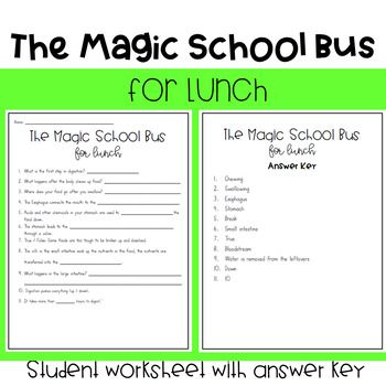 The Magic School Bus For Lunch With Images Magic School Bus