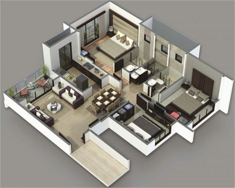 29 Trendy Small House Plans 3 Bedroom Indian Simple House Plans 3d House Plans House Floor Plans
