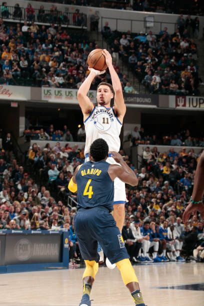 Klay Thompson Of The Golden State Warriors Shoots The Ball During The Game Against The Indiana Pacers On April 5 2018 At Klay Thompson Splash Brothers Thompson