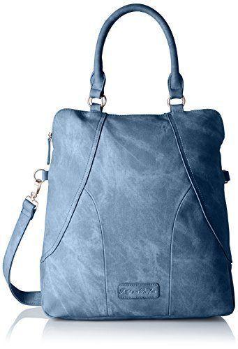 Fritzi Aus Preussen Damen Baila Umhangetasche 12x39x36 Cm Blau Denim Schultertasche Umhangetasche Frauentasche Stofftasche Bunte Tasche Handtasc