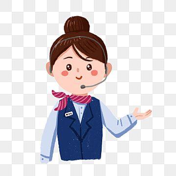 Cartoon Customer Service Professional Female Png Free Material Female Clipart Female Customer Service After Sales Service Png Transparent Clipart Image And P Cartoon Illustration Cartoon Clip Art