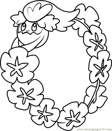 Comfey Pokemon Sun And Moon Coloring Page Moon Coloring Pages Coloring Pages Pokemon Sun