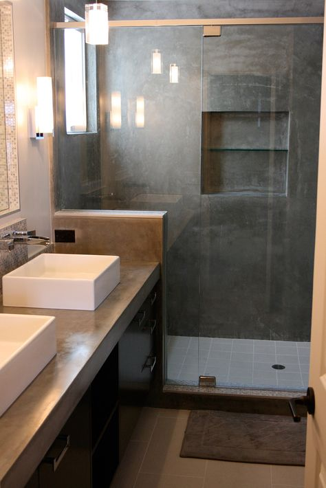 Concrete Sink & Shower - Concrete Wave Design |  Concrete Sinks, Concrete Countertops, Concrete Firepits, Concrete Furniture | Southern CA
