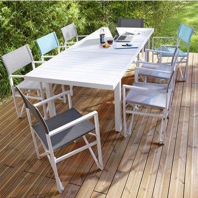 Table De Jardin En Aluminium Batang Blanc Table De Jardin Castorama Iziva Com En 2020 Table De Jardin Canape Jardin Salon De Detente