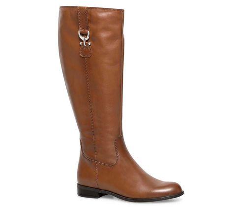 Botte cavalière mollet large - Bottes - Chaussures femme