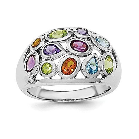 Brilliant Bijou Solid .925 Sterling Silver Rhodium Plated Diamond Mens Ring
