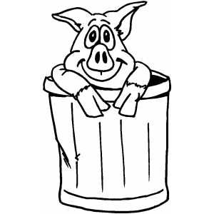 Pig In Trash Can Free Coloring Sheets In Png Format Coloring