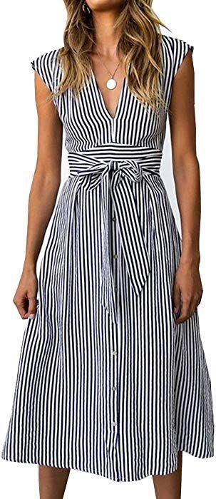 15++ Womens striped dress info
