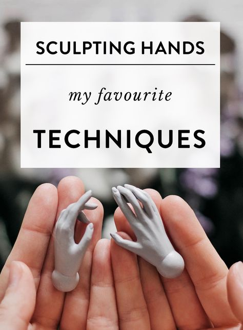 Sculpting hands – my favourite techniques — Adele Po. Sculpting hands – my favourite techniques — Adele Po.,Figuren Tuts Sculpting hands – my favourite techniques Hand Sculpture, Polymer Clay Sculptures, Polymer Clay Dolls, Polymer Clay Projects, Book Sculpture, Pottery Sculpture, Ceramic Sculptures, Sculpting Tutorials, Doll Making Tutorials