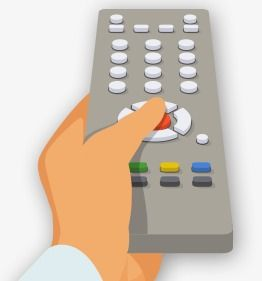 Cartoon Remote Control In Hand Cartoon Clipart H5 Material Hand Png And Vector With Transparent Background For Free Download Cartoon Clip Art Remote Control Tv Remote Controls