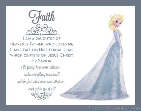 Young Women Value Disney Princess Posters | Faith: Elsa