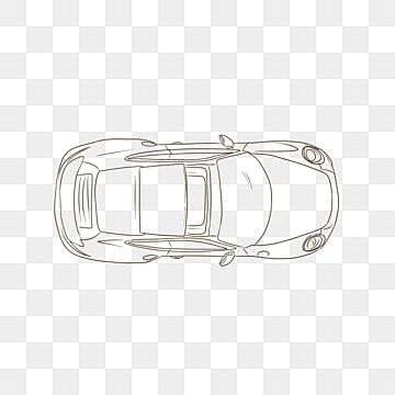 Car Top View Sketch Line Draft Car Clipart Png Car Black And White Png Transparent Clipart Image And Psd File For Free Download Car Top View Car Silhouette Car Icons