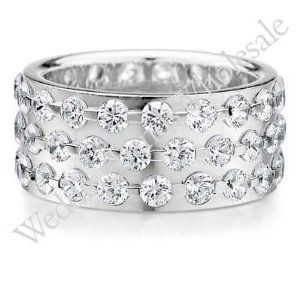 Diamond Wide Band Ring 2 Ctw Eternity 18k White Gold This Is Simply Beautiful Vision Board Pinterest Rings And