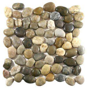 Pecos 4 X 12 Natural Stone Border Tile In Cobblestone Pebble Tile Pebble Tile Shower Stone Mosaic Tile