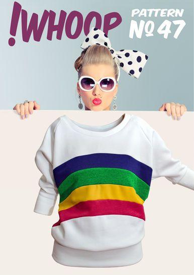 !Whoop No 47 Rainbowpulli Schnittmuster und Anleitung 32-46 bei Makerist