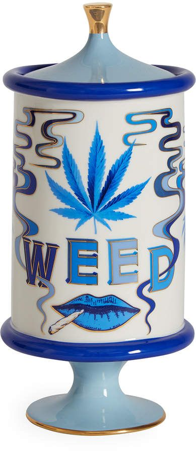 Our Druggist Weed Canister features third-eye mindscapes rendered in Delft-inspired blues and accented with real sparkly gold. Jonathan Adler, Gio Ponti, Stoner Room, Home Decor Furniture, Plywood Furniture, Modern Furniture, Furniture Design, Chill Room, Stoner Gifts