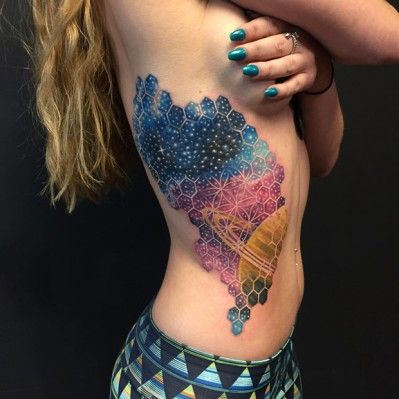 50 Pretty Side Tattoos for Girls