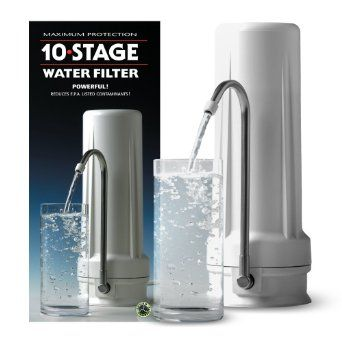 Amazon Com New Wave Enviro 10 Stage Water Filter System Sports Outdoors Water Filter Countertop Water Filter Water Filter Review