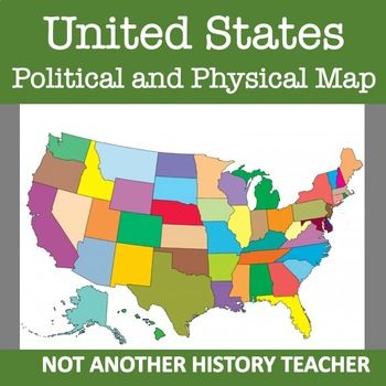 United States Map   US History   United states map, State ...