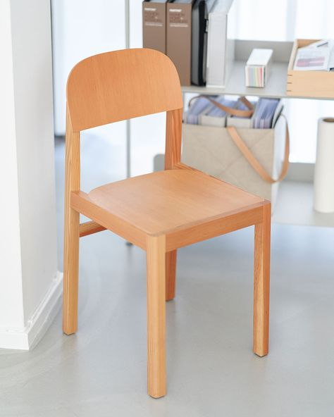The Workshop Chair brings a playful approach to the wooden chair. The design creates a new perspective on archetypical Scandinavian design through its thin back shell and slightly curved seat that gives the chair its distinct look. #scandinaviandesign #homedecor #muutodesign