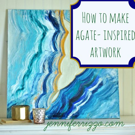 How to paint an agate inspired painting