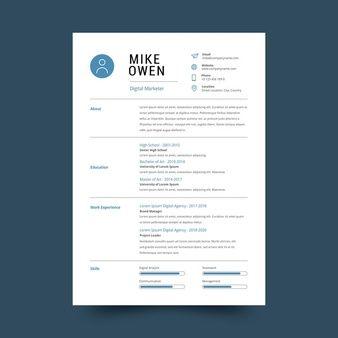 Minimalist Cv Template Vorlage Lebenslauf Kostenlos Infografik Lebenslauf Kreative Lebenslaufvorlagen