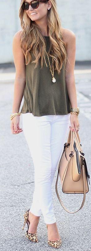 160 Ideas De Outfits Pantalón Blanco Outfits Moda Estilo Ropa Casual