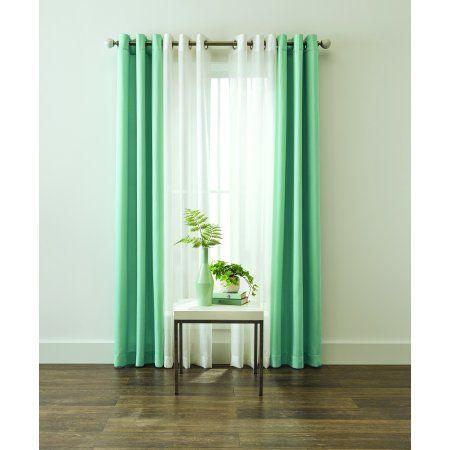 sheer window curtain panel 4 piece set