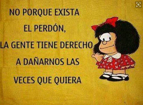 Si lo dice #Mafalda hay que ponerle asunto. Buenas noches sea feliz y no vaya por el mundo haciendo daño y luego decir