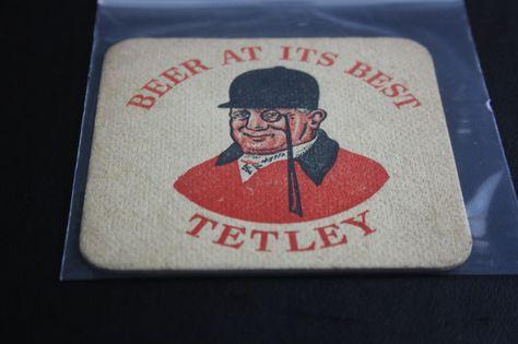 1954 Beermat Tetleys Leeds Cat 006 1x98 8 14 Beer Bar Tetley Beer