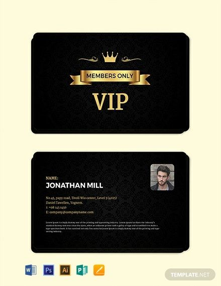 Instantly Download Free Fan Club Membership Card Template Sample Example In Microsoft Word Doc Adobe Membership Card Create Business Cards Card Template