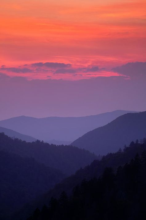 Smoky Mountain Sunset Art Print