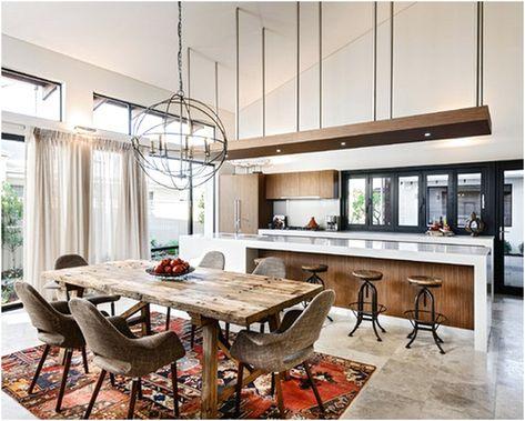 desain ruang makan dan dapur terbuka sederhana | interior