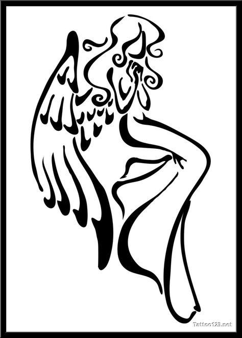 Simple Angel Drawing