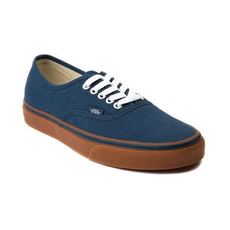 vans shoes blue and brown