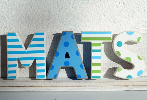 Mats Kinderzimmer Holz Buchstaben 4 Holzbuchstaben Maritim