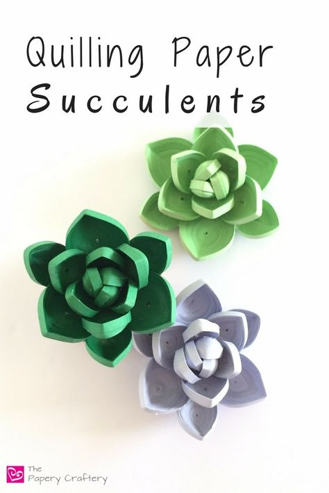 Quilling Paper Succulents – The Papery Craftery Suculentas de papel quilling – The Papery Craftery Neli Quilling, Quilling Dolls, Quilled Roses, Paper Quilling Flowers, Paper Quilling Tutorial, Paper Quilling Patterns, Origami And Quilling, Quilled Paper Art, Quilling Paper Craft