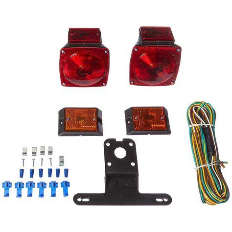 Maxxhaul 12 Volt Incandescent Trailer Light Kit For Trailers Under 80 In 70094 Tail Light Kit Kit Cars