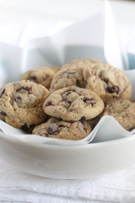 Healthier Mini Chocolate Chip Cookies from @jennyflake