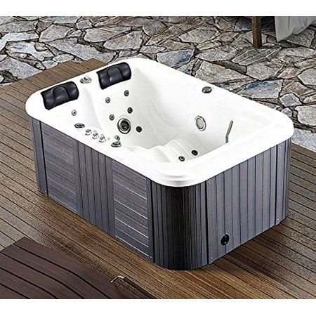 Symbolic Spas 2 Person Hot Tub Spa Outdoor Hydrotherapy Double Lounger Insulated Hard Cover 220 240 Volt 40 Amp 31 Jets 1 5 Hp Pump 3kw Heater Ozonato Spa Hot Tubs Hot Tub Tub