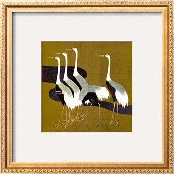 Cranes Print by Sakai Hoitsu at Art.com