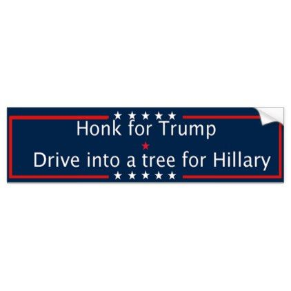 Shop funny pro trump bumper sticker created by personalize it with photos text or purchase as is