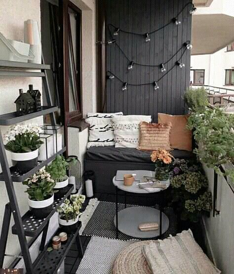 Image Discovered By Mellowesque Find Images And Videos About Love Home And Design On We Heart In 2020 Balcony Decor Apartment Balcony Decorating Small Balcony Decor