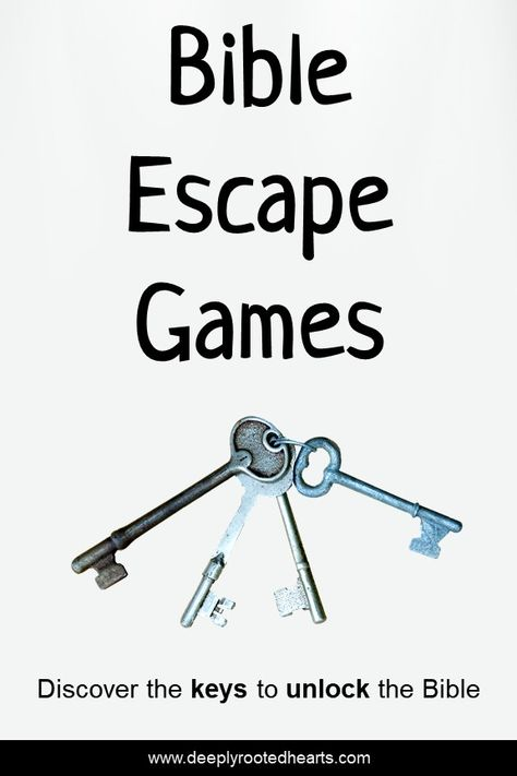 Bible Escape Games will encourage teens to dig deeper into the Bible to uncover the truth found within its pages. Excellent activity for homeschooled teens, youth groups, and small groups.