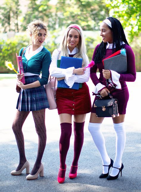 I was inspired to create a Clueless costume with my group of friends! See our Clueless adult DIY Halloween costume ideas.