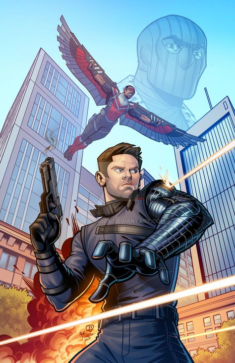 Falcon and the Winter Soldier Fan Art by kpetchock on DeviantArt