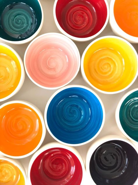 Rainbow Ice Cream Sundae Bowls