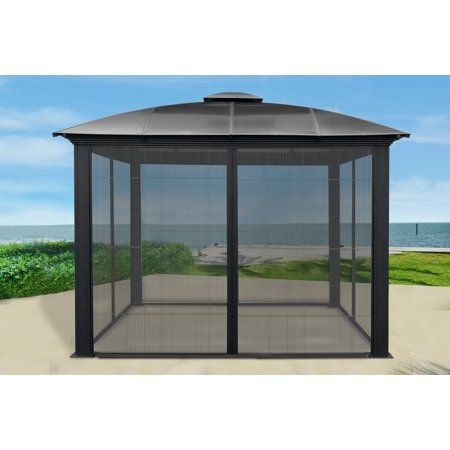Patio Garden Gazebo Gazebo On Deck Sliding Screen Doors